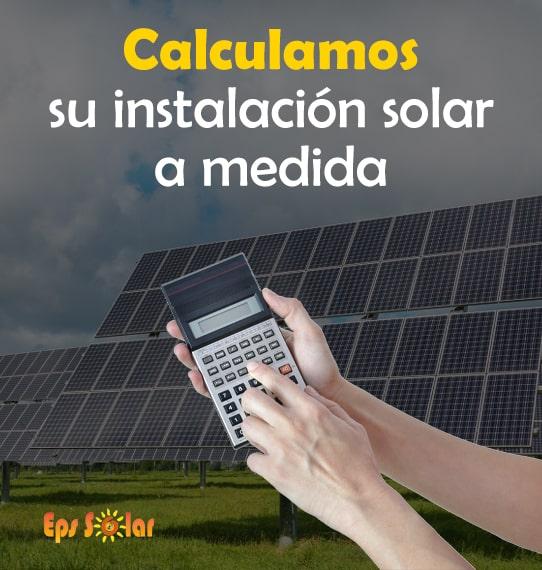 calcula instalacion placas solares eps